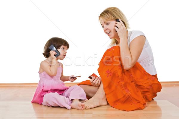 Two girls speaking Stock photo © joseph73