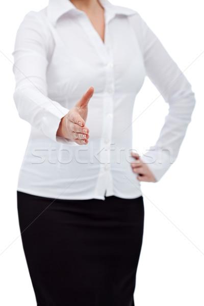Woman handshake Stock photo © joseph73