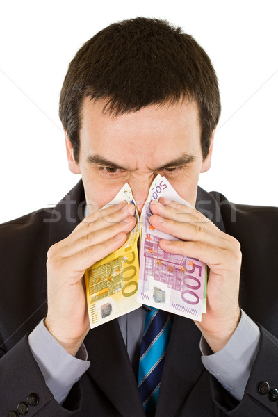 Businessman blowing his nose Stock photo © joseph73