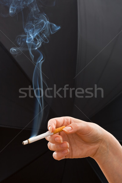 Woman hand holding a cigarette Stock photo © joseph73