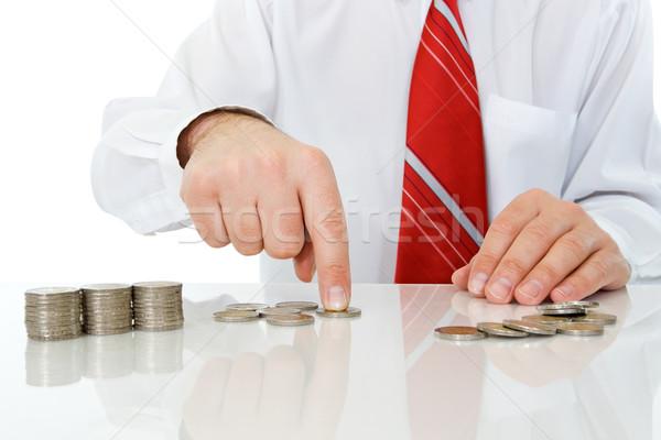 бизнесмен монетами бизнеса стороны белый наличных Сток-фото © joseph73