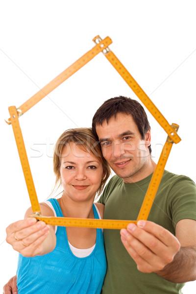 Zdjęcia stock: Para · model · domu · ręce
