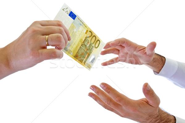 деньги два рук служба человека помочь Сток-фото © joseph73