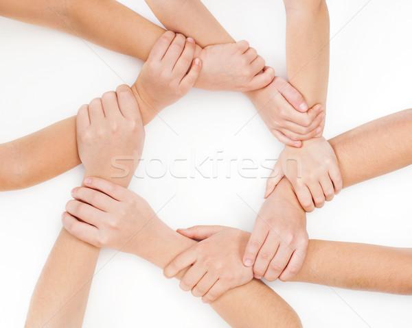 кольца рук стороны аннотация кадр группа Сток-фото © joseph73