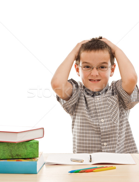 Angry schoolboy Stock photo © joseph73