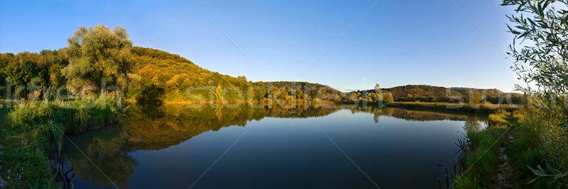 Jesienią krajobraz piękna drzewo wiosną drewna Zdjęcia stock © joseph73
