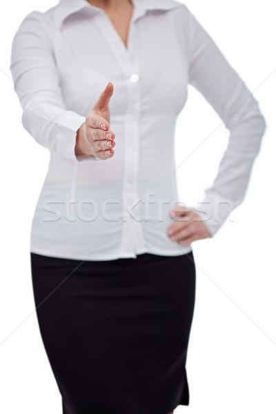 Kobieta handshake dość business woman strony ręce Zdjęcia stock © joseph73