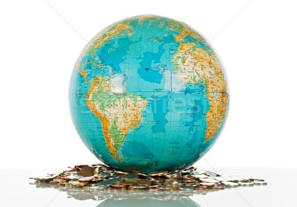 Globe on the coins Stock photo © joseph73