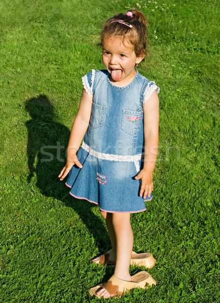 Playful little girl Stock photo © joseph73