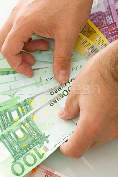 Euro strony działalności ceny zielone Zdjęcia stock © joseph73