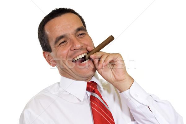 Başarılı iş adamı işadamı başarı puro iş Stok fotoğraf © joseph73
