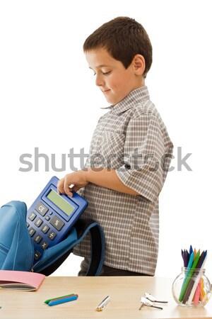 Uczeń niebieski kolor szkoły student Zdjęcia stock © joseph73
