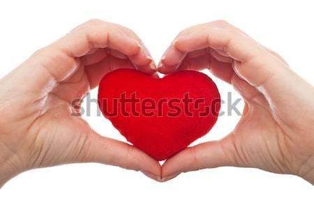 Chroniony serca kobieta strony czerwony Zdjęcia stock © joseph73