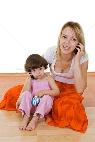 Dwa dziewcząt młodych piękna kobieta mówić Zdjęcia stock © joseph73