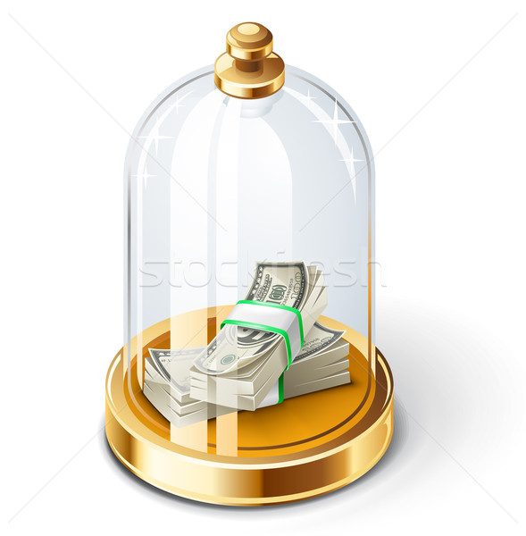 Dollars under the glass dome Stock photo © jossdiim