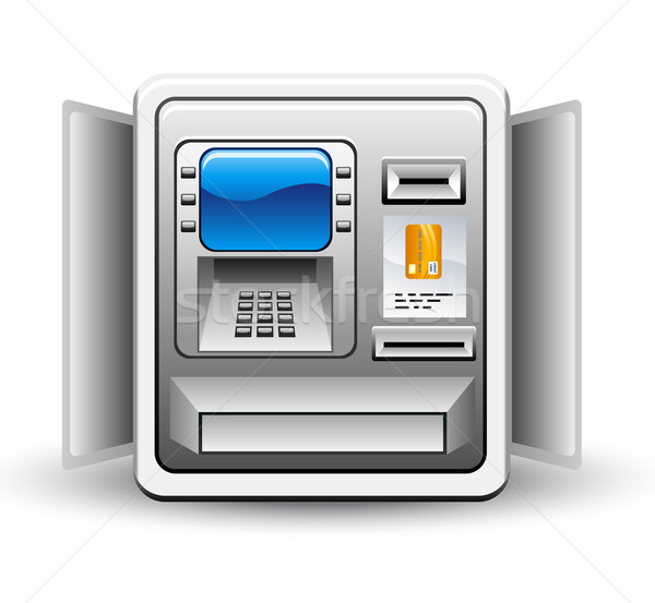 Atm machine witte business scherm financieren Stockfoto © jossdiim