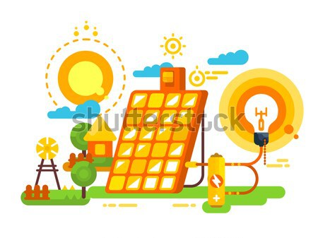 Solar battery design concept Stock photo © jossdiim
