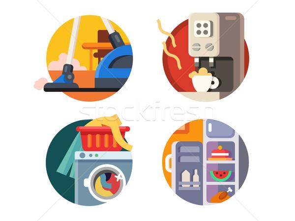Set of household appliances Stock photo © jossdiim