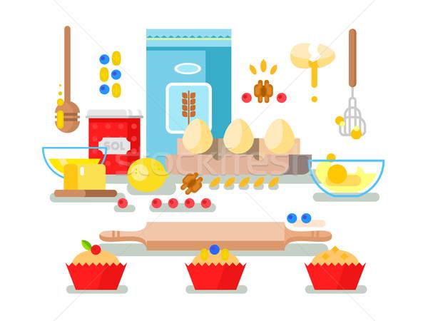 Preparation of baking ingredients Stock photo © jossdiim