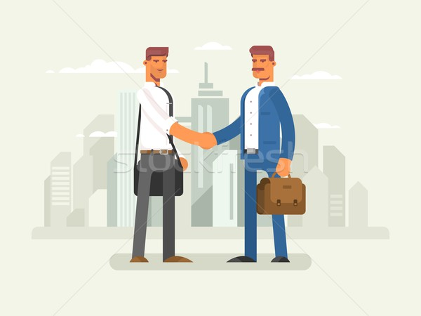Business partners flat design Stock photo © jossdiim