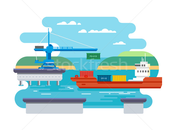 Cargo Freight Shipping by Water. Stock photo © jossdiim