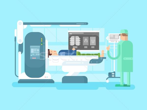 Kabinet mri medische ziekenhuis machine Stockfoto © jossdiim