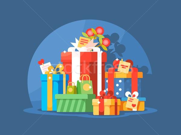 Heap of gift boxes Stock photo © jossdiim
