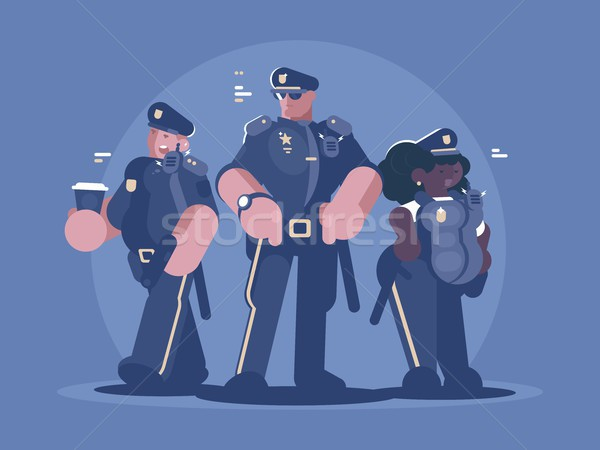 Group of police man and woman Stock photo © jossdiim