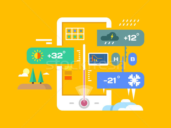 Weather application  Stock photo © jossdiim