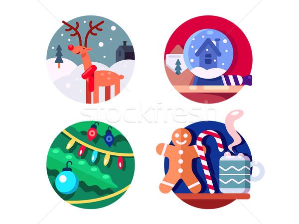 Norte Navidad reno decoración elementos navidad Foto stock © jossdiim