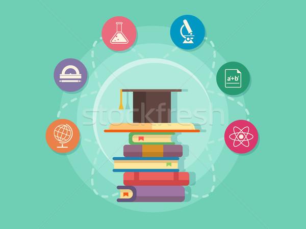 Science education flat style Stock photo © jossdiim