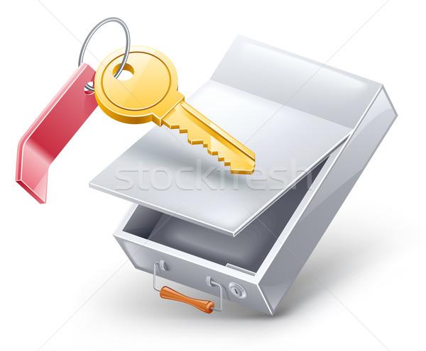 Sécurité dépôt boîte clé blanche lumière Photo stock © jossdiim