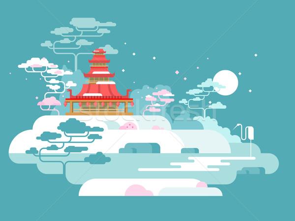 China painted landscape Stock photo © jossdiim