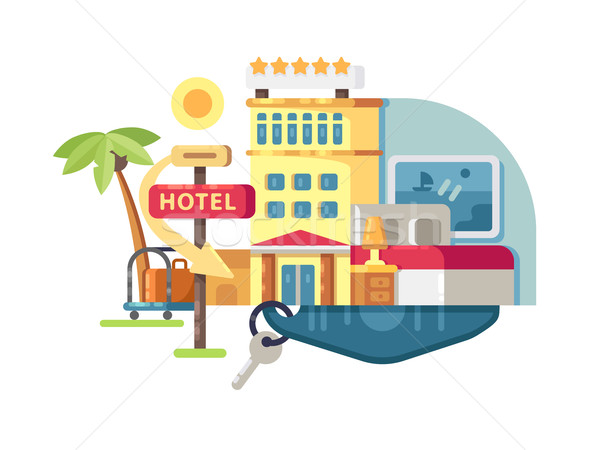 Hotel building five stars Stock photo © jossdiim