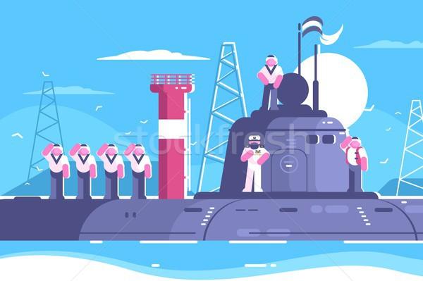 экипаж подводная лодка Постоянный фон океана путешествия Сток-фото © jossdiim