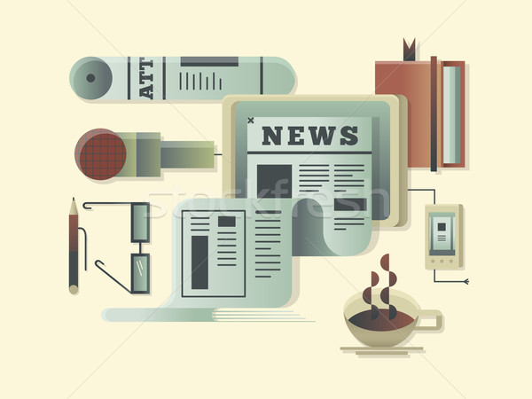 News design concept Stock photo © jossdiim