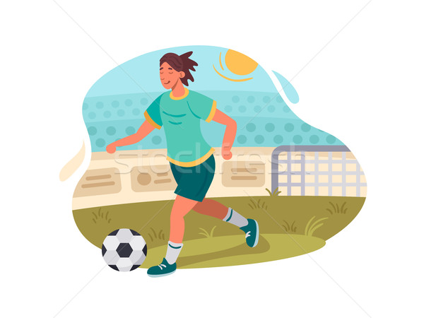 Soccer player plays football Stock photo © jossdiim