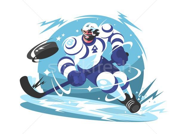 Ice hockey team player Stock photo © jossdiim