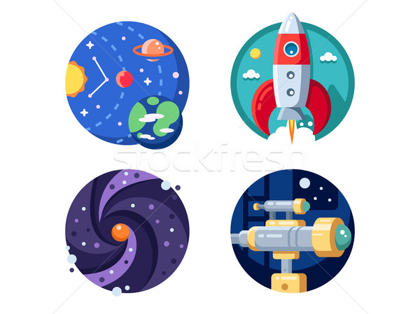 Cosmic research of solar system Stock photo © jossdiim