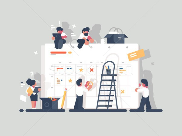 Planning and organization of tasks on board Stock photo © jossdiim