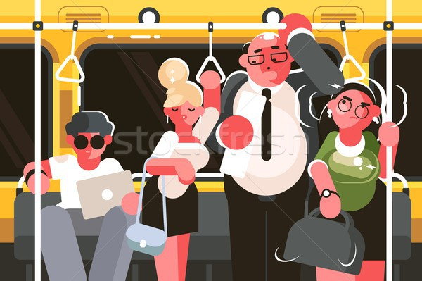 Passengers in subway car Stock photo © jossdiim