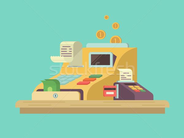 レジ スタイル お金 金融 カウンタ ストックフォト © jossdiim