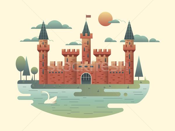 城 デザイン 建物 中世 塔 ストックフォト © jossdiim