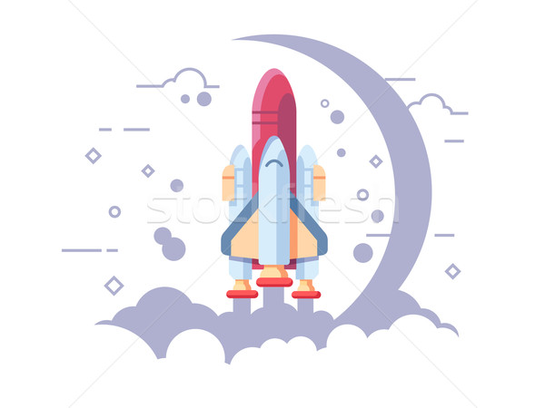 Startup space rocket Stock photo © jossdiim