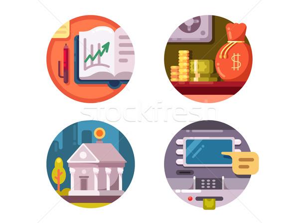 Financieros institución dinero banco atm edificio Foto stock © jossdiim