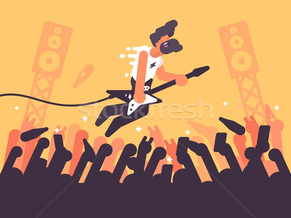 Rock guitarrista concierto música etapa Foto stock © jossdiim