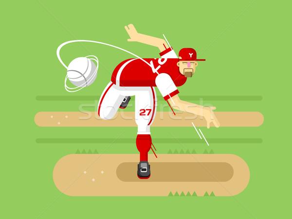 Baseball player cartoon character Stock photo © jossdiim