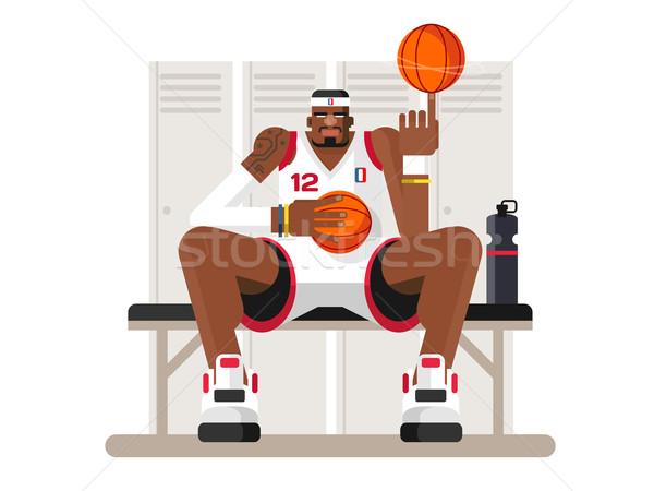 Cartoon basketball player Stock photo © jossdiim