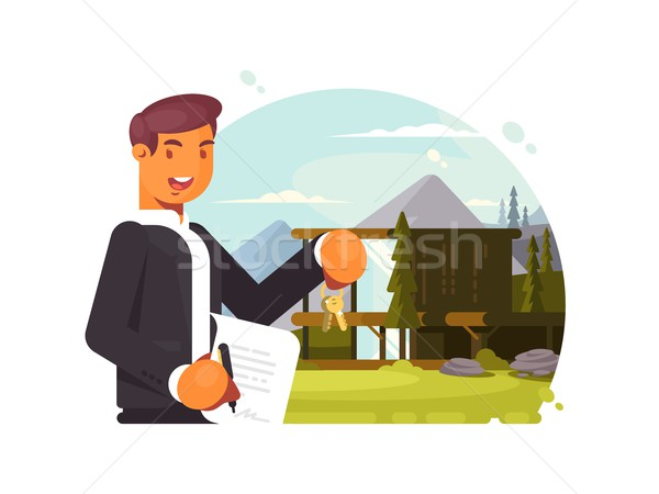 Successful realtor sells property Stock photo © jossdiim