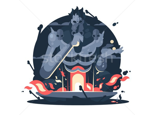 Character of Hades god death Stock photo © jossdiim